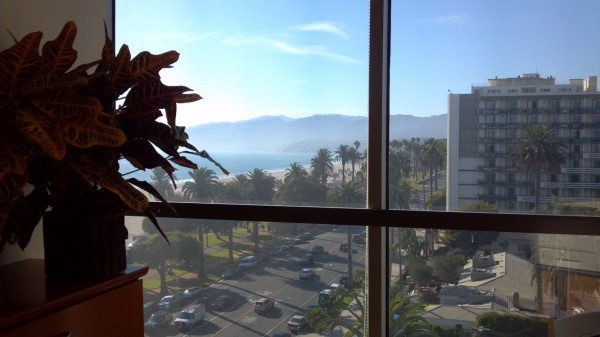This is the view from a desk in our Santa Monica office #oh #neat