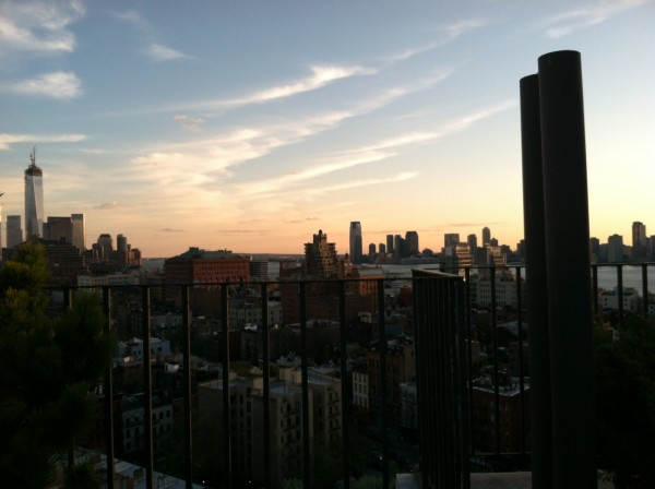 Saturday's sunset from Marion's rooftop. I will never tire of the NYC skyline #vista