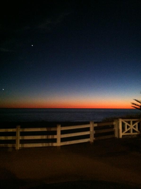 santa mon sunset
