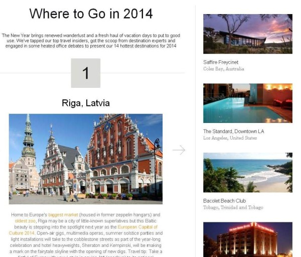 where to go in 2014