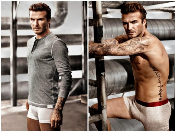 david beckham super bowl H&M 2014