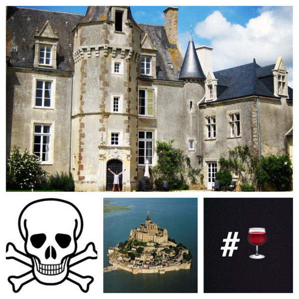 BBT + chateau; #wine; Mont-St-Michel; death