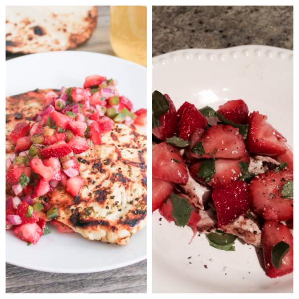 cilantro-lime chicken with strawberry-jalapeno salsa