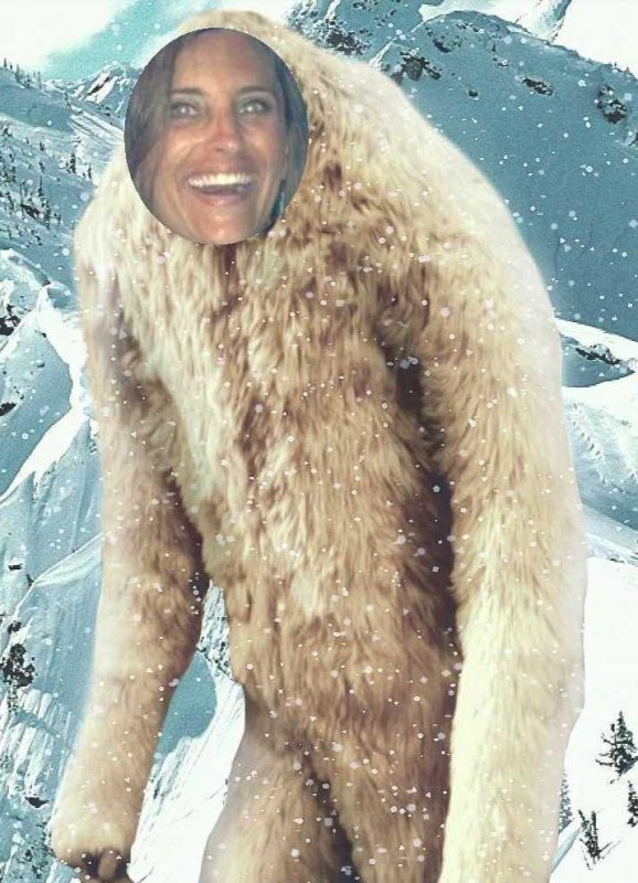 hilary as abominable snowman