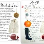 My Fall Bucket List (!)