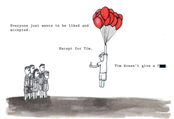Tim doesn't give af